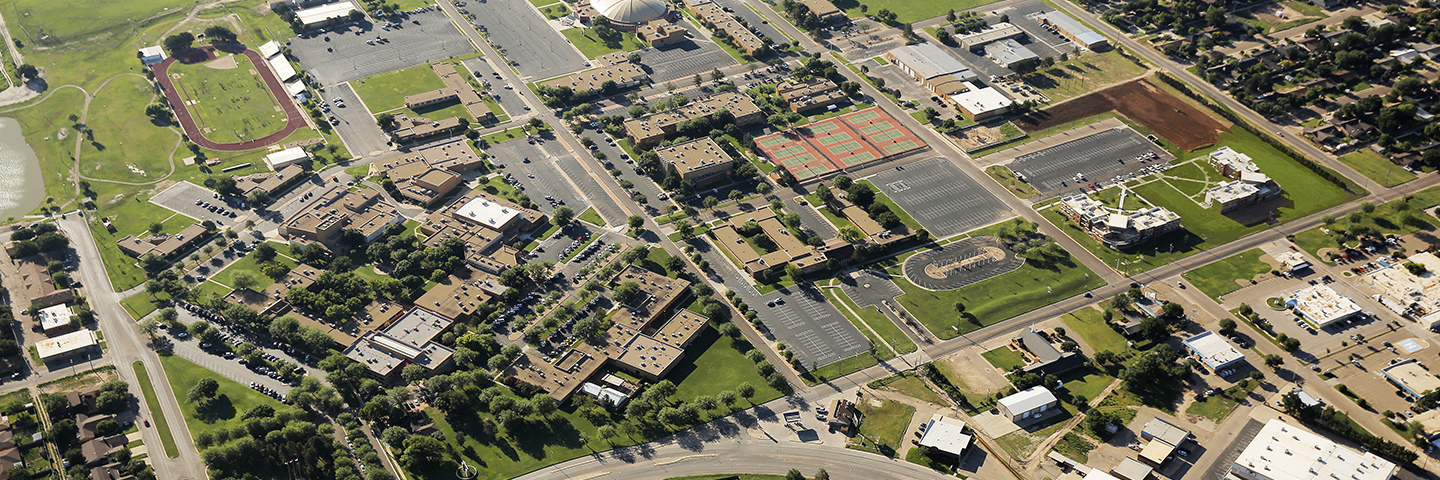 Arial photo of South Plains College
